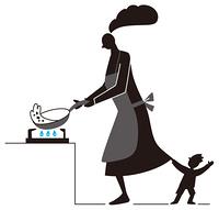 料理の邪魔する子供