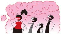 きつい香水の女性