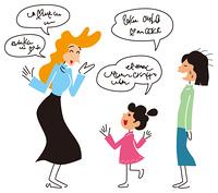 外国語を話す女の子