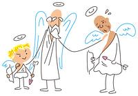 リストラされる高齢の天使