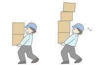 荷物を運ぶ男性2種類