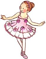 チュチュを着る女の子