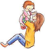 子どもと遊ぶ母