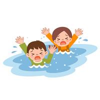 溺れる子供達