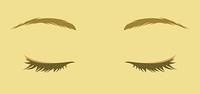 女性の目 閉じた目