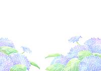 水彩風アジサイ 青