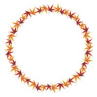 紅葉の葉 飾り罫