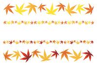 紅葉の葉の罫