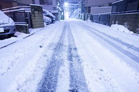 大雪の住宅街
