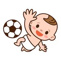 サッカーボールと赤ちゃん