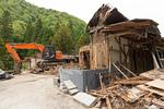 古民家の解体工事