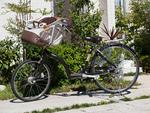 チャイルドシートのついた自転車