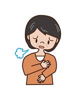 ため息をつく中年女性