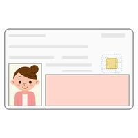 身分証明書 カード 女性