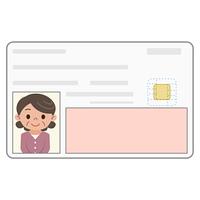 身分証明書 カード シニア女性