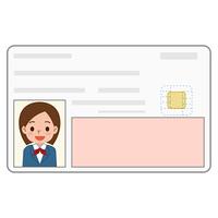 身分証明書 カード 女の子