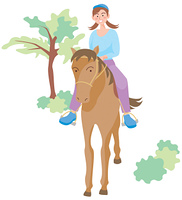 馬に乗る女性
