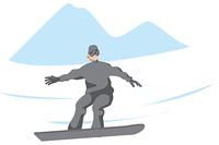 スノーボードをする女性