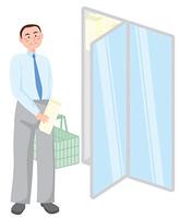 買い物をするビジネスマン