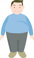 太った男性