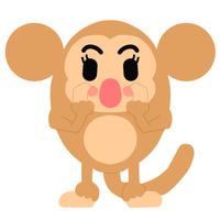 サルの挨拶