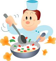 料理を作るコック