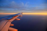 機上の夕空