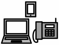 パソコンとスマホ、電話