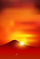 日の出 正月 背景