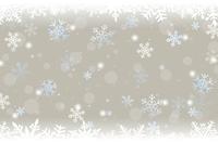 クリスマスと雪の結晶の背景
