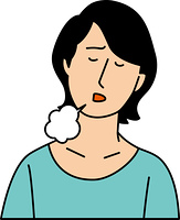 ため息をつく20代女性