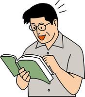 本を読んでひらめいた50代男性