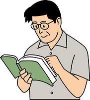 本を読む50代男性