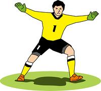 サッカーのゴールキーパー