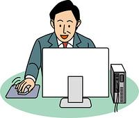 パソコンの操作をする50代ビジネスマン