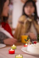 クリスマスケーキと親子