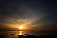 灯台の夕景