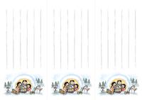 B5/3【一筆箋】和風イラスト・かまくら