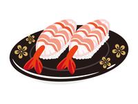 寿司 エビ 一皿