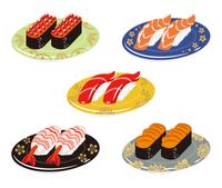 寿司 五皿セット