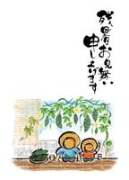 【残暑見舞い】和風イラスト・夏・ゴーヤー