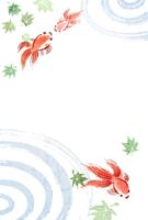 【ポストカード】和風イラスト・夏・金魚