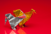 折り紙の鶏