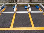 二輪車用のコイン駐車場