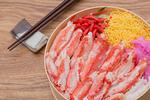 ズワイガニの海鮮弁当