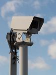 高速道路のスマートインターチェンジの監視カメラ