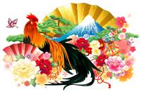和風の尾長鶏