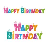 カラフルな誕生日(HAPPY BIRTHDAY)文字デザイン