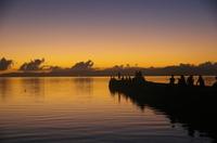 竹富島の西桟橋の夕暮れ