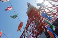 鯉のぼりと東京タワー